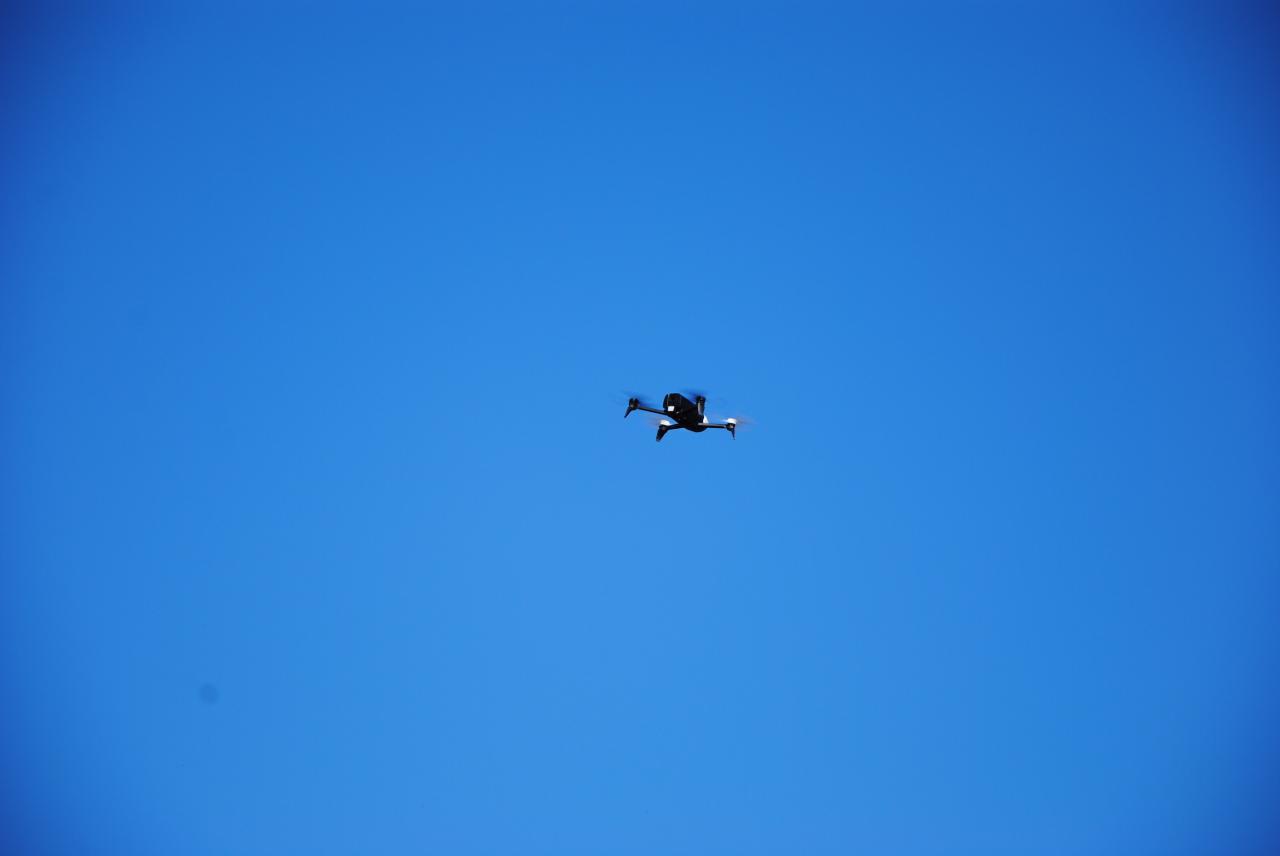Le drone en action !